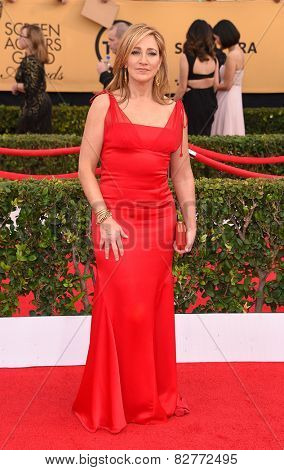LOS ANGELES - JAN 25:  Edie Falco arrives to the 21st Annual Screen Actors Guild Awards  on January 25, 2015 in Los Angeles, CA