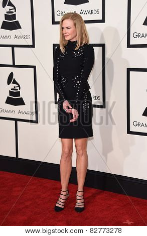 LOS ANGELES - FEB 08:  Nicole Kidman arrives to the Grammy Awards 2015  on February 8, 2015 in Los Angeles, CA