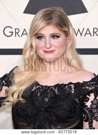 LOS ANGELES - FEB 08:  Meghan Trainor arrives to the Grammy Awards 2015  on February 8, 2015 in Los Angeles, CA