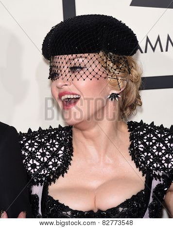 LOS ANGELES - FEB 08:  Madonna arrives to the Grammy Awards 2015  on February 8, 2015 in Los Angeles, CA
