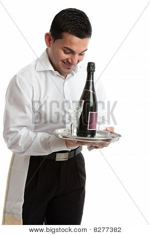 Smiling Waiter, Servant Or Bartender