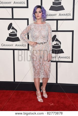 LOS ANGELES - FEB 08:  Katy Perry arrives to the Grammy Awards 2015  on February 8, 2015 in Los Angeles, CA