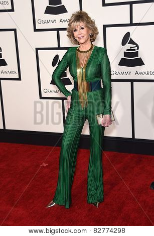 LOS ANGELES - FEB 08:  Jane Fonda arrives to the Grammy Awards 2015  on February 8, 2015 in Los Angeles, CA