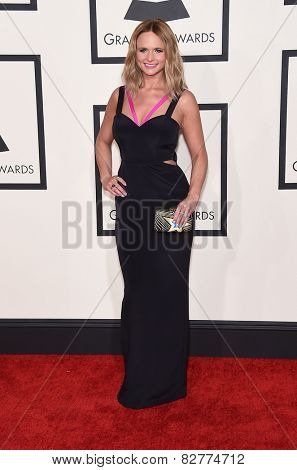 LOS ANGELES - FEB 08:  Miranda Lambert arrives to the Grammy Awards 2015  on February 8, 2015 in Los Angeles, CA