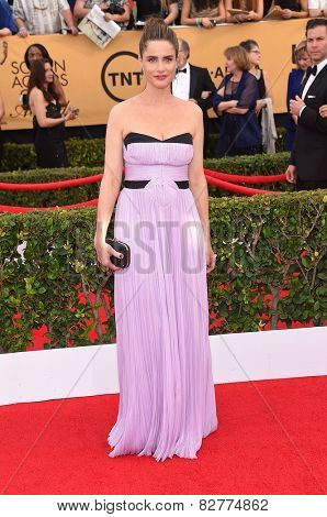 LOS ANGELES - JAN 25:  Amanda Peet arrives to the 21st Annual Screen Actors Guild Awards  on January 25, 2015 in Los Angeles, CA