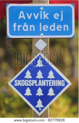 Swedish Information Signs