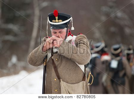 Smoking Russian Soldier
