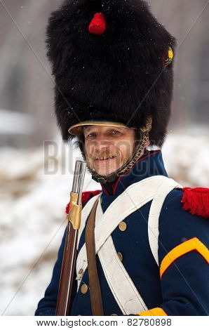 Russian Musketeer With Rifle
