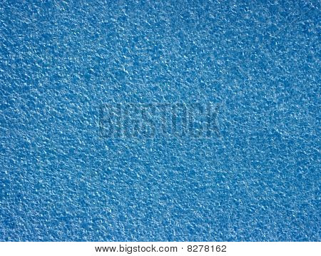 Background with blue foamed polyethylene