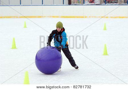 Boy Run With A Ball