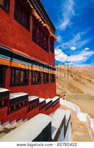 Inside Thikse Buddhist Monastery, Ladakh, Northern India