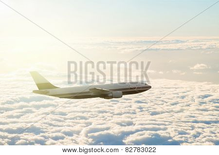 plane over clouds
