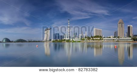Landscape Of The Singapore City