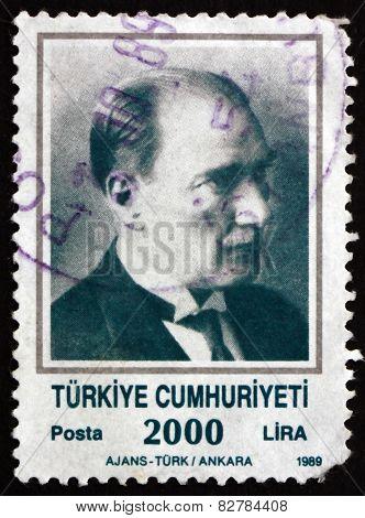 Postage Stamp Turkey 1989 Mustafa Kemal Ataturk