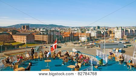 Oslo. Norway. On the ferry DFDS SEAWAYS company