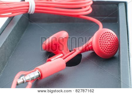 Red Wired Headphones