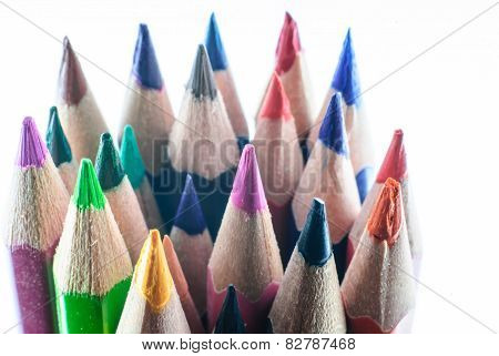 Color Pencil In Row