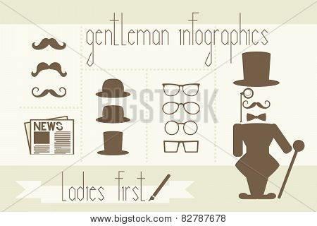 gentleman infographics elements