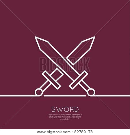 Crossed Swords.