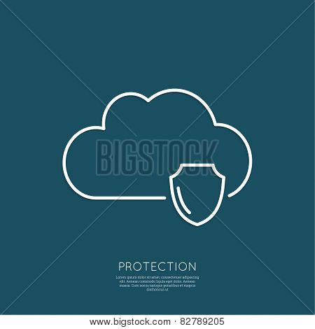 Cloud Security Concept.