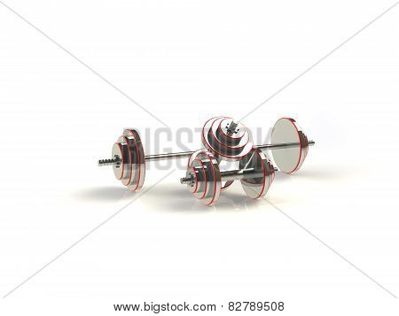 Dumbbell 3D rendering
