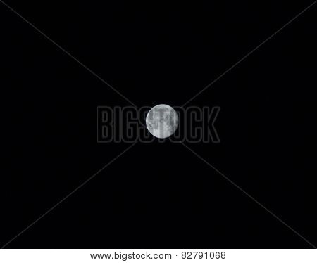 Moon against a black sky