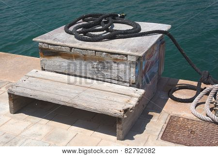 Black Rope On Wood Box