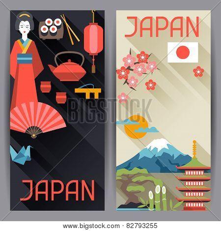 Japan banners design.