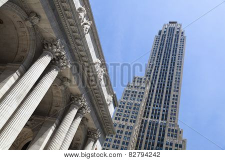 Rockefeller Center And Public Library, New York