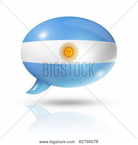 Argentinian Flag Speech Bubble