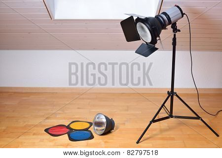 Studio flash and light modifiers