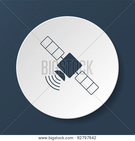 Satellite Icon With Long Shadow