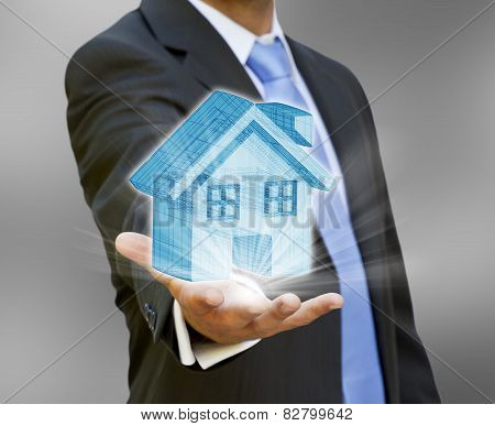 Businessman Real Estate Concept