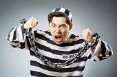 picture of inmate  - Funny prison inmate in concept - JPG
