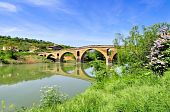 picture of gare  - Bridge of the Queen over the river Arga  - JPG