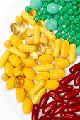 stock photo of paracetamol  - Bunch of various drug pills - JPG