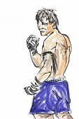 picture of muay thai  - Muay Thai is a martial art of Thailand  - JPG