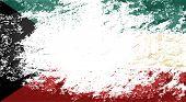 image of kuwait  - Kuwait flag Grunge background - JPG