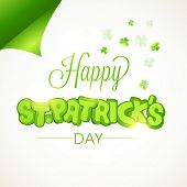 picture of clover  - Creative sticky design with stylish text Happy St - JPG