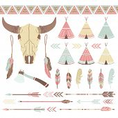 picture of wigwams  - Indian Ethnicity Collection - JPG