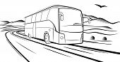 foto of motor-bus  - Vector sketch - JPG