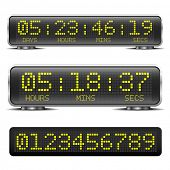stock photo of countdown timer  - detailed illustration of a digital LED countdown timer with LED - JPG