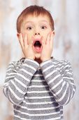 foto of little boys only  - Surprised little boy - JPG