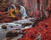 image of crimea  - Silver Stream Waterfall - JPG