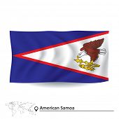 stock photo of samoa  - Flag of American Samoa  - JPG