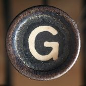 picture of old vintage typewriter  - Details of a dusty old letter closeup of vintage typewriter - JPG