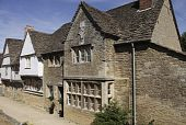 Medieval Houses In Lacock Village poster