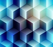 stock photo of cube  - Seamless background pattern - JPG