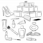 picture of shoe-box  - Fashion accessories set - JPG