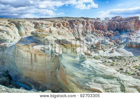 Landscape Scenes Near Lake Powell And Surrounding Canyons